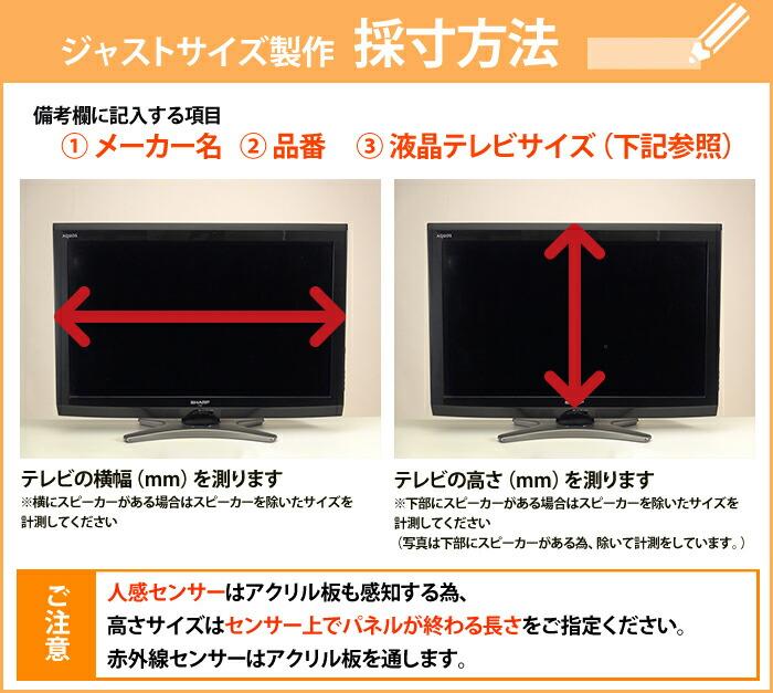 保護パネルのジャストサイズ製作の採寸方法