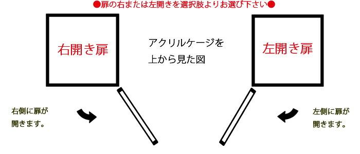 右または左扉イメージ図