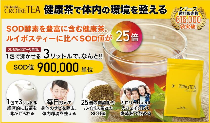 抗酸化でアンチエイジング!シリーズの基礎クロワール健康茶