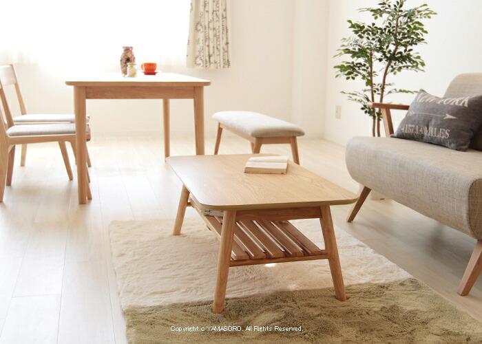 ローテーブルを買い替えたい!材木の質感を前面に押し出した、味のある商品を教えてください。