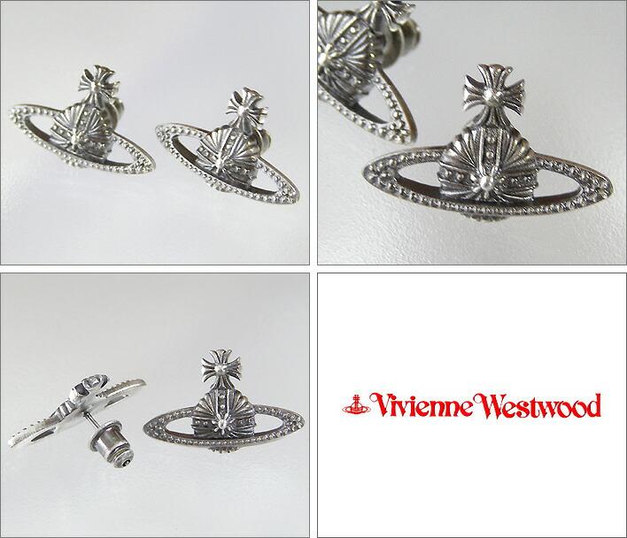 ヴィヴィアン ピアス オーナメンタル ミニバスレリーフピアス アンティークシルバーVivienneWestwoodヴィヴィアン・ウエストウッド