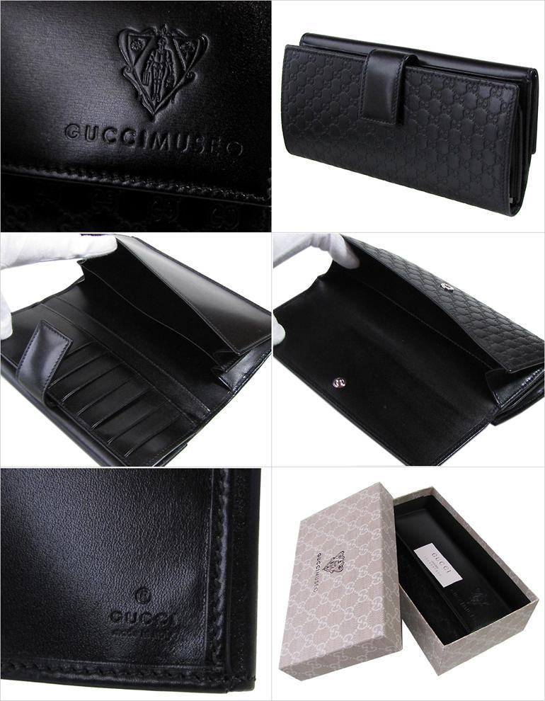 グッチミュゼオ オリジナルラッピング付 長財布 GUCCI MUSEO ブラック 310093 AUB1N 1000 グッチミュージアム