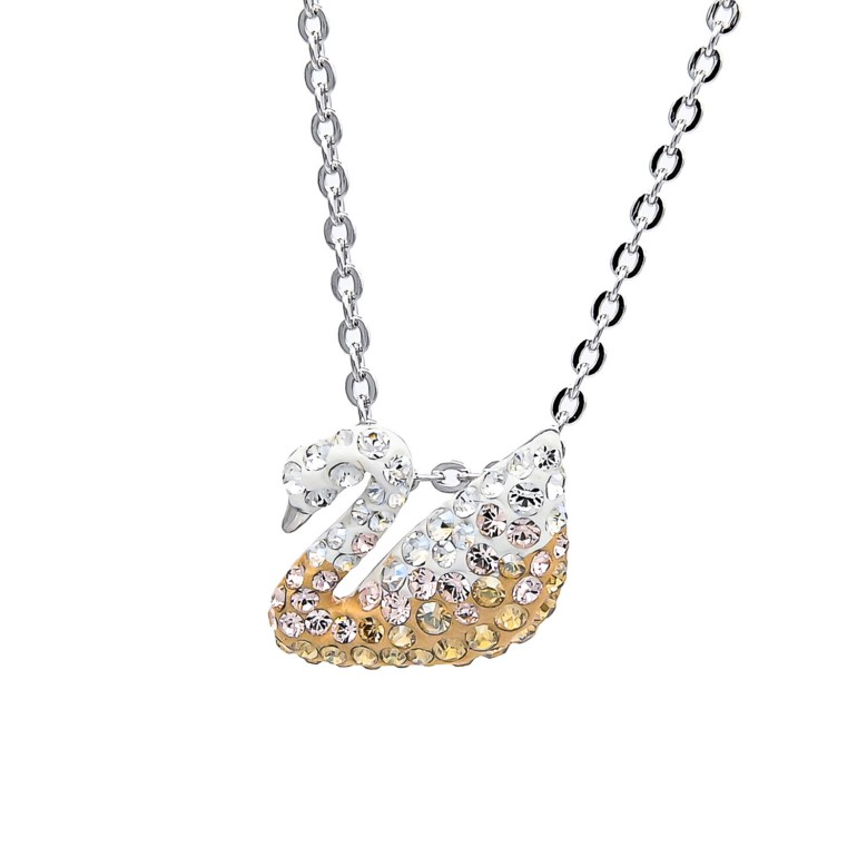 スワロフスキー SWAROVSKI ネックレス Iconic Swan アイコニックスワン ピンクゴールド グラデーション 5215038 母の日