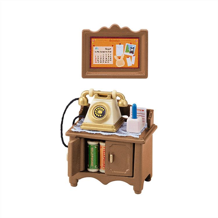 カ-501 シルバニアファミリー 電話台セット