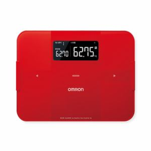 【納期約2週間】HBF-255T-R [omron オムロン] 体重体組成計 「カラダスキャン」 レッド HBF255TR
