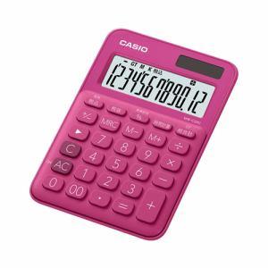 【2017年8月25日発売予定】CASIO カシオ MW-C20C-RD-N カラフル電卓(12桁) ビビッドピンク MWC20CRDN