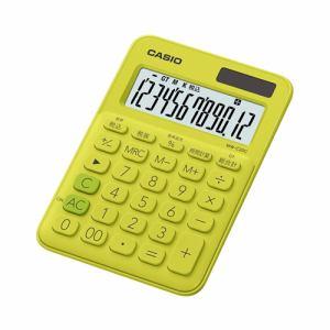 【2017年8月25日発売予定】CASIO カシオ MW-C20C-YG-N カラフル電卓(12桁) ライムグリーン MWC20CYGN