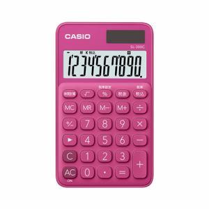 【2017年8月25日発売予定】CASIO カシオ SL-300C-RD-N カラフル電卓(10桁) ビビッドピンク SL300CRDN