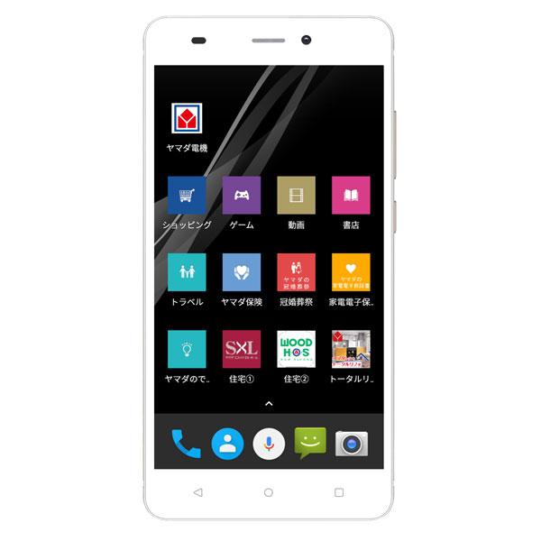 【納期約7~10日】 EP-172BZ/G Android搭載SIMフリースマートフォン EveryPhone BZ ゴールド EP172BZG