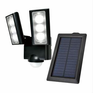 【納期約1~2週間】ELPA ESL-312SL ソーラー発電式 LEDセンサーライト 2灯 白色/ソーラー式 ESL312SL