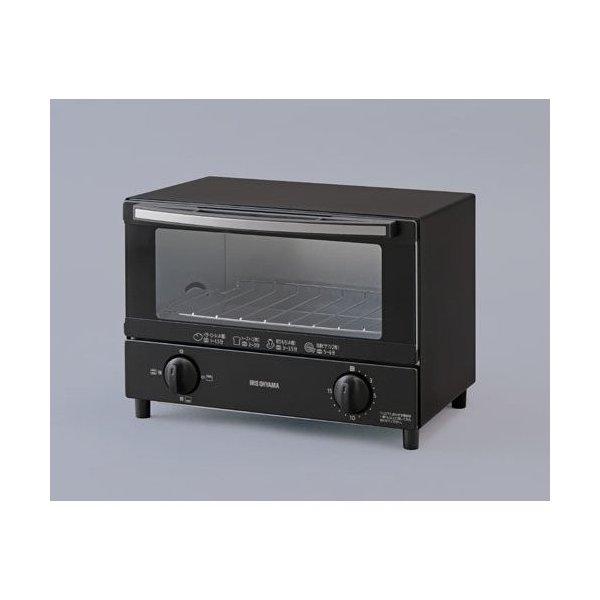 【納期約1~2週間】アイリスオーヤマ KOT-012-B オーブントースター 2枚焼き ブラック KOT012BBK