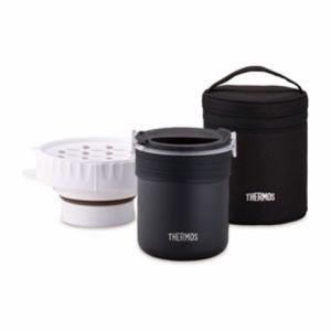 【納期約1~2週間】THERMOS サーモス JBS-360-BK ごはんが炊ける弁当箱 ブラック THERMOS JBS360BK