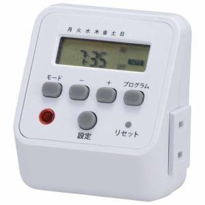 【納期約1~2週間】オーム電機 HS-APT71 デジタルタイマー ホワイト HSAPT71