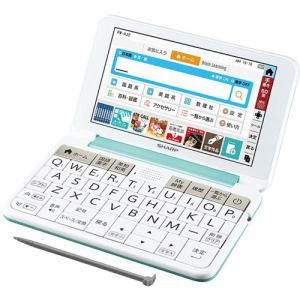 【納期約7~10日】SHARP シャープ PW-AJ2G カラー電子辞書 中学生モデル 150コンテンツ グリーン PWAJ2G
