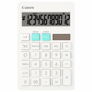 【納期約7~10日】Canon キヤノン HS-1200TC-WH SOB 電卓 ホワイト HS1200TCWH