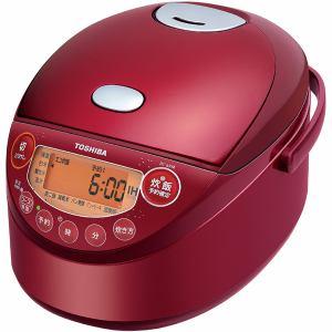 【納期約2週間】TOSHIBA 東芝 RC-6XM-R IH炊飯器 備長炭鍛造かまど釜 3.5合炊き グランレッド 3.5合 RC6XM