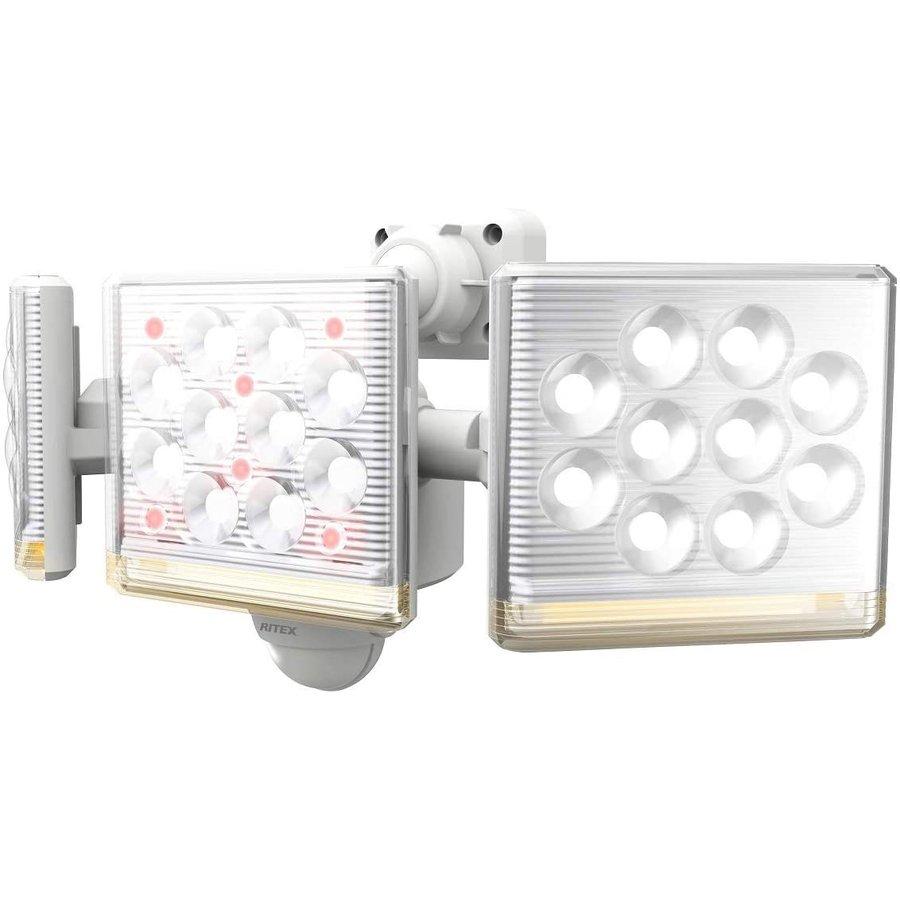 【納期約2週間】ムサシ 12W×3灯 フリーアーム式 LEDセンサーライト リモコン付 LED-AC3045