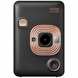 【納期約2週間】富士フイルム INSMINIHM1ELEGANTBLACK ハイブリッドインスタントカメラ instax mini LiPlay 「チェキ」 エレガントブラック