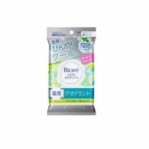 【納期約2週間】花王 Kao さらさらパウダーシート 薬用デオドラント クールミントの香り [携帯用] 10枚/45mL