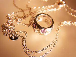 天然 アレキサンドライト ダイヤモンド ホワイトゴールド ラウンド リング ネックレス【誕生石6月】10P03Dec16