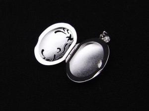 ロケットペンダント ペンダント トップ プラチナ小判型 片面泡沫10P03Dec16