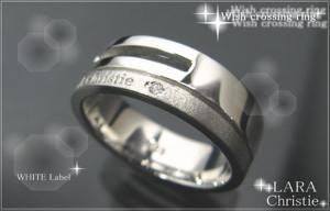 ララクリスティー LARA Christie ウィッシュクロス リング [ WHITE Label ホワイトレーベル] 【送料無料】【即納】【プレゼントに最適】10P03Dec16