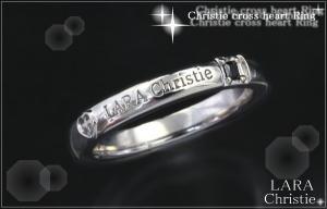 ララクリスティー LARA Christie クリスティークロスハート リング [ BLACK Label ]【送料無料】【即納】【2014年コレクション】【プレゼントに最適】10P03Dec16