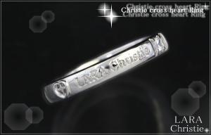 ララクリスティー LARA Christie クリスティークロスハート リング [ WHITE Label ]【送料無料】【即納】【2014年コレクション】【プレゼントに最適】10P03Dec16