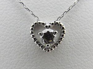 プラチナ 0.10CTダイヤモンドハートのネックレス10P03Dec16
