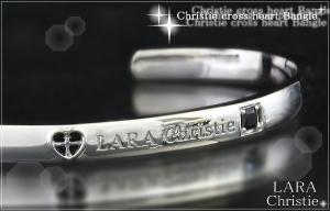 ララクリスティー LARA Christie クリスティークロスハート バングル [ BLACK Label ]【送料無料】【即納】【2014年コレクション】【プレゼントに最適】10P03Dec16