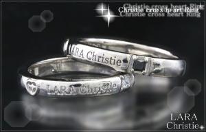 ララクリスティー LARA Christie クリスティークロスハート  ペアリング [PAIR Label ]【送料無料】【即納】【2014年コレクション】【プレゼントに最適】10P03Dec16