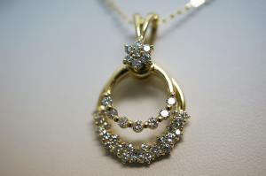1.00CTダイヤモンドがゆらゆら揺れるネックレス10P03Dec16