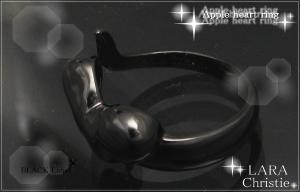 ララクリスティー LARA Christie アップルハート リング(指輪) [ BLACK Label ブラックレーベル] 【送料無料】【即納】【プレゼントに最適】10P03Dec16