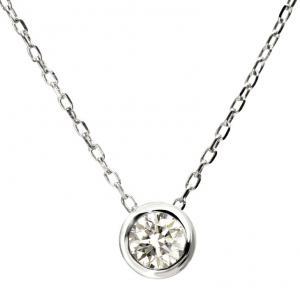 ララクリスティー エグザコレクション LARA Christie EXZA COLLECTION K18ゴールド0.1ctダイヤモンドネックレス【送料無料】【プレゼントに最適】10P03Dec16