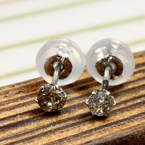 0.2CT天然ダイヤモンド ラウンドブリリアントカットピアス(プラチナ)10P03Dec16