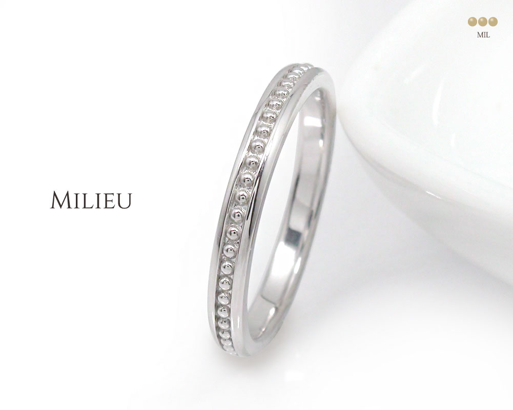Milieu(ミリュー)「真ん中」ペアリング | ジュエリー工房アルマ