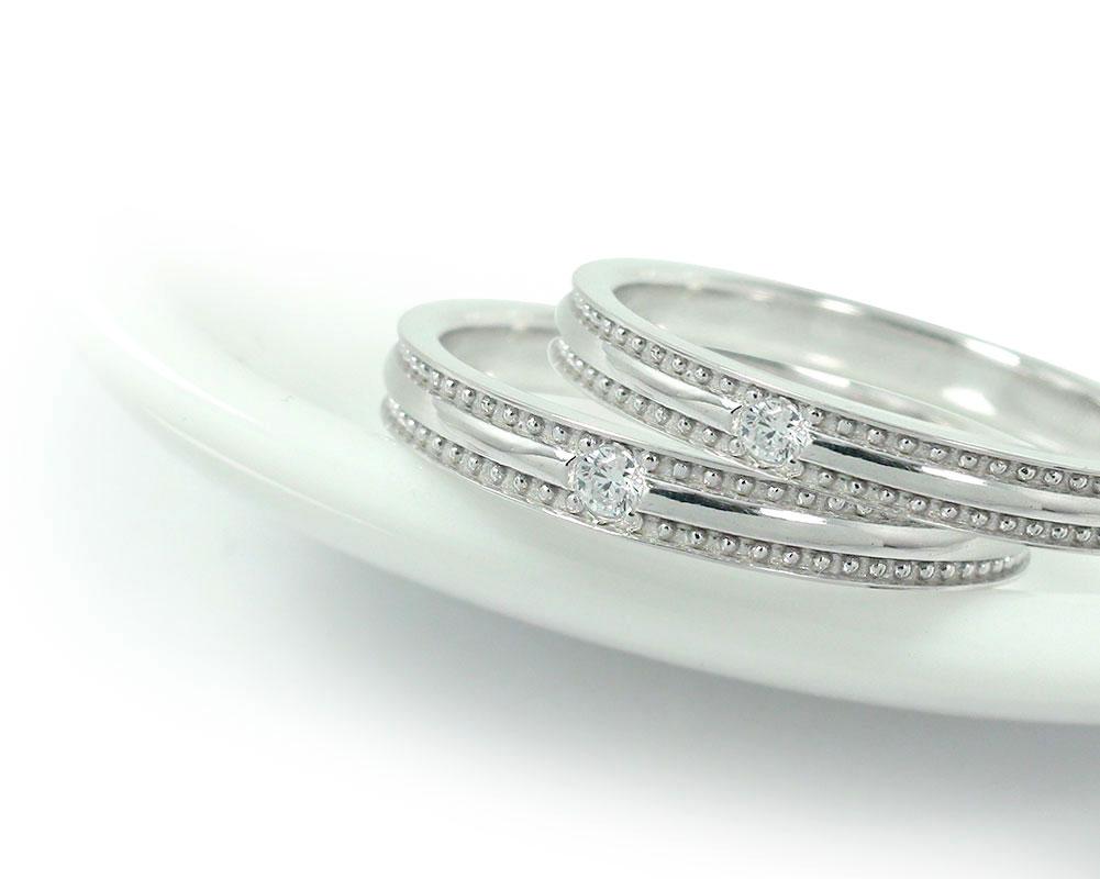 Rencontre(ランコントル)「千の粒」ミル ダイヤモンドリング   ジュエリー工房アルマ