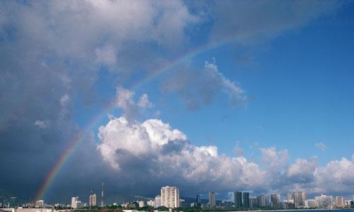 ハワイ、虹