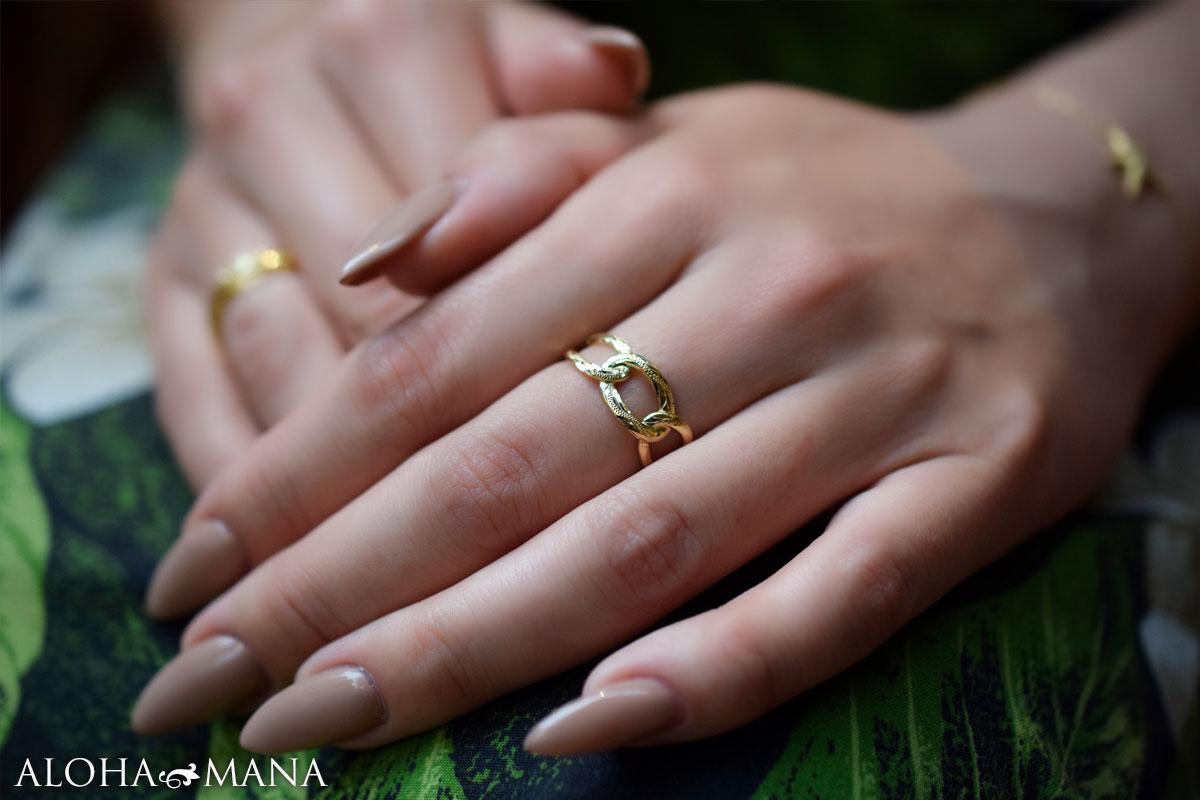 ゴールド リング 指輪 ハワイアンジュエリー
