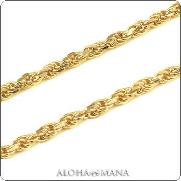 (長さ40cm・45cm・50cm) 数量限定 dch151052/ ハワイアンジュエリー ネックレス K14ピンクゴールド ネックレス (Weliana) カットロープチェーン幅1.5mm ネックレス