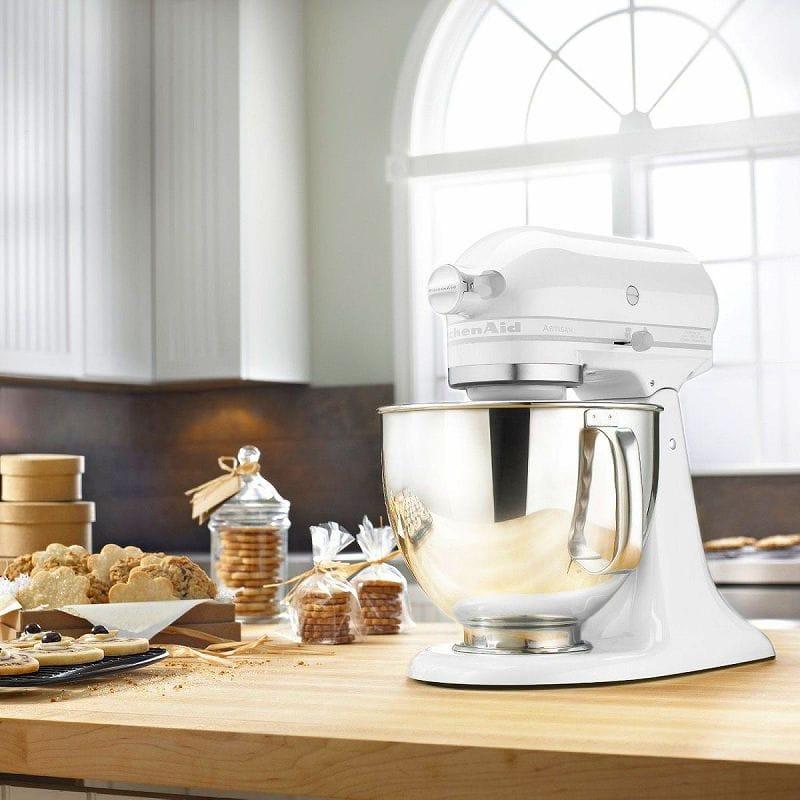 Kitchen aid stands mixer artisan 4.8L white-on-white pure white KitchenAid  Artisan 5-Quart Stand Mixers KSM150PSWW White On White