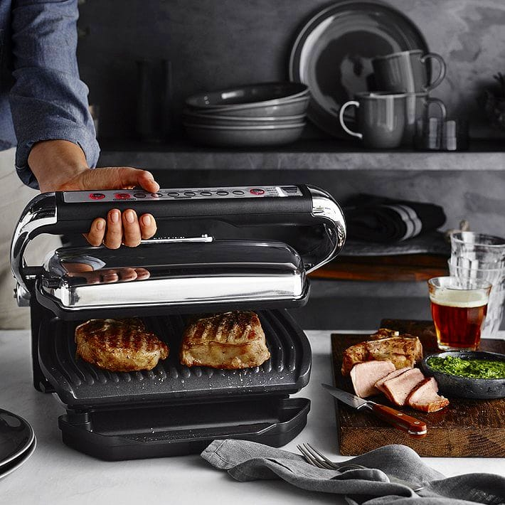 All Clad Electric Indoor Grill With Autosense Frozen On The Auto Sensor Cooking Depending Temperature And Thickness Of Food Ings Are Ok
