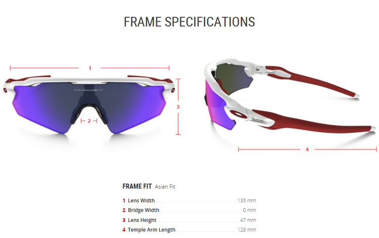 oakley radar ev asian fit