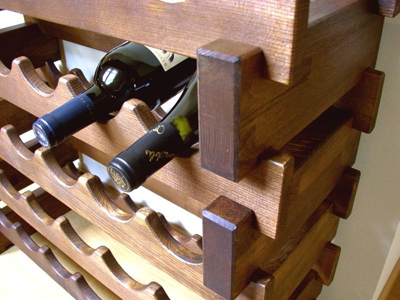 日本製 木製 ワインラック