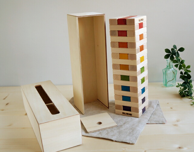 ジェンガと便利な木箱