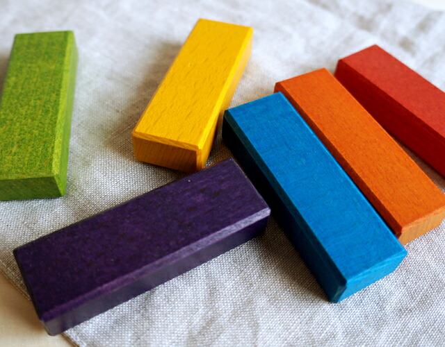 ジェンガの染色塗装の画像