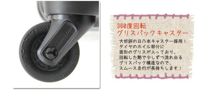 拡張式ジッパースーツケース≪miffy(ミッフィー)/HAPI+TAS(ハピタス)≫グリスパックキャスター