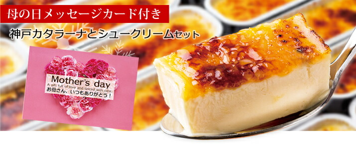 母の日神戸カタラーナとシュークリームセット