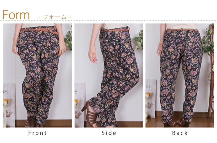 レディース 花柄パンツ パンツ PANTS pants