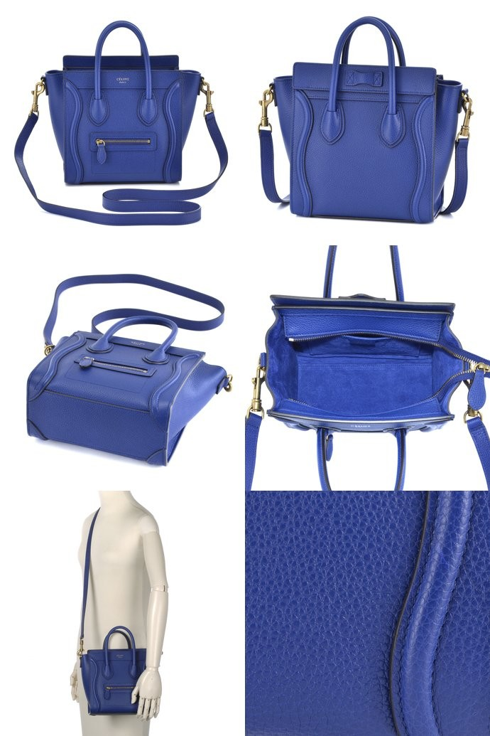 セリーヌ CELINE  NANO LUGGAGE 2WAYハンドバッグ 16824 3DRU 07IN